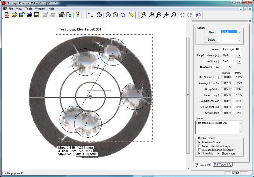 OnTarget Precision Calculator - Measuring firearm precision and accuracy